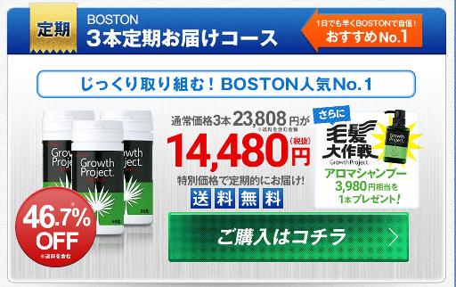 育毛サプリボストン 公式サイト3本定期お届けコースの価格